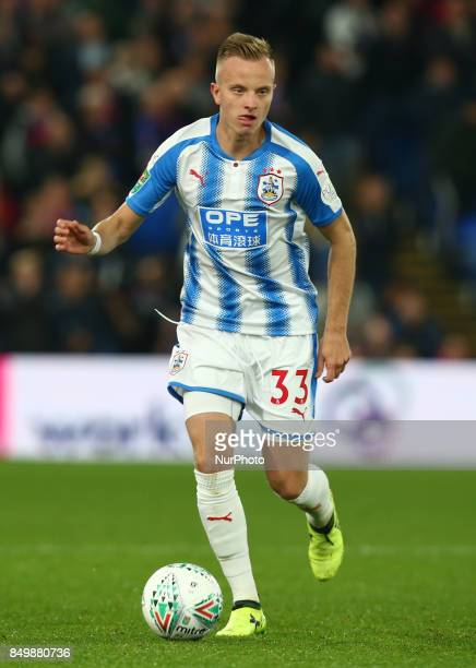 Huddersfield Town's Florent Hadergjonaj during Carabao Cup 3rd Round match between Crystal Palace and Huddersfield Town at Selhurst Park Stadium...