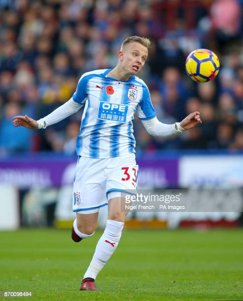 Huddersfield Town's Florent Hadergjonaj during the Premier League match at the John Smith's Stadium Huddersfield