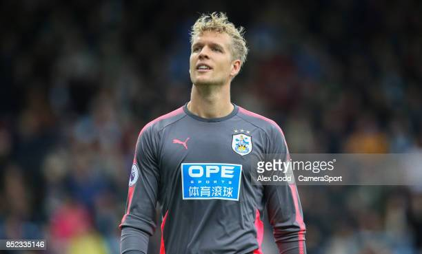 Huddersfield Town's Jonas Lossl during the Premier League match between Burnley and Huddersfield Town at Turf Moor on September 23 2017 in Burnley...