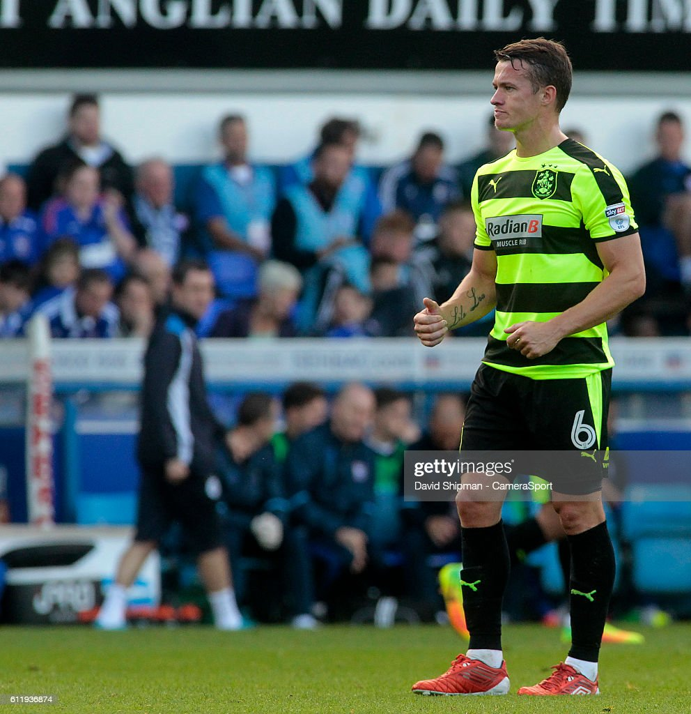 Huddersfield Town's Jonathan Hogg in action during todays match during the Sky Bet Championship match between Ipswich Town and Huddersfield Town at Portman Road on October 1, 2016 in Ipswich, England.