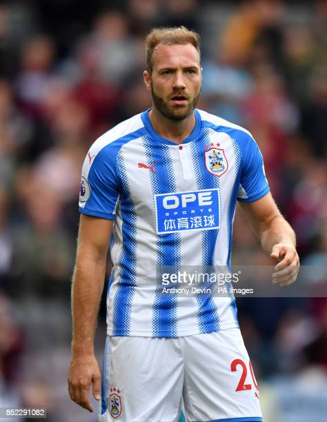 Huddersfield Town's Laurent Depoitre during the Premier League match at Turf Moor Burnley