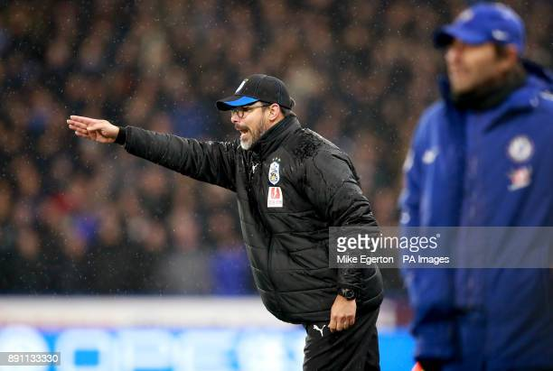 Huddersfield Town's manager David Wagner gestures on the sideline during the Premier League match at the John Smith's Stadium Huddersfield