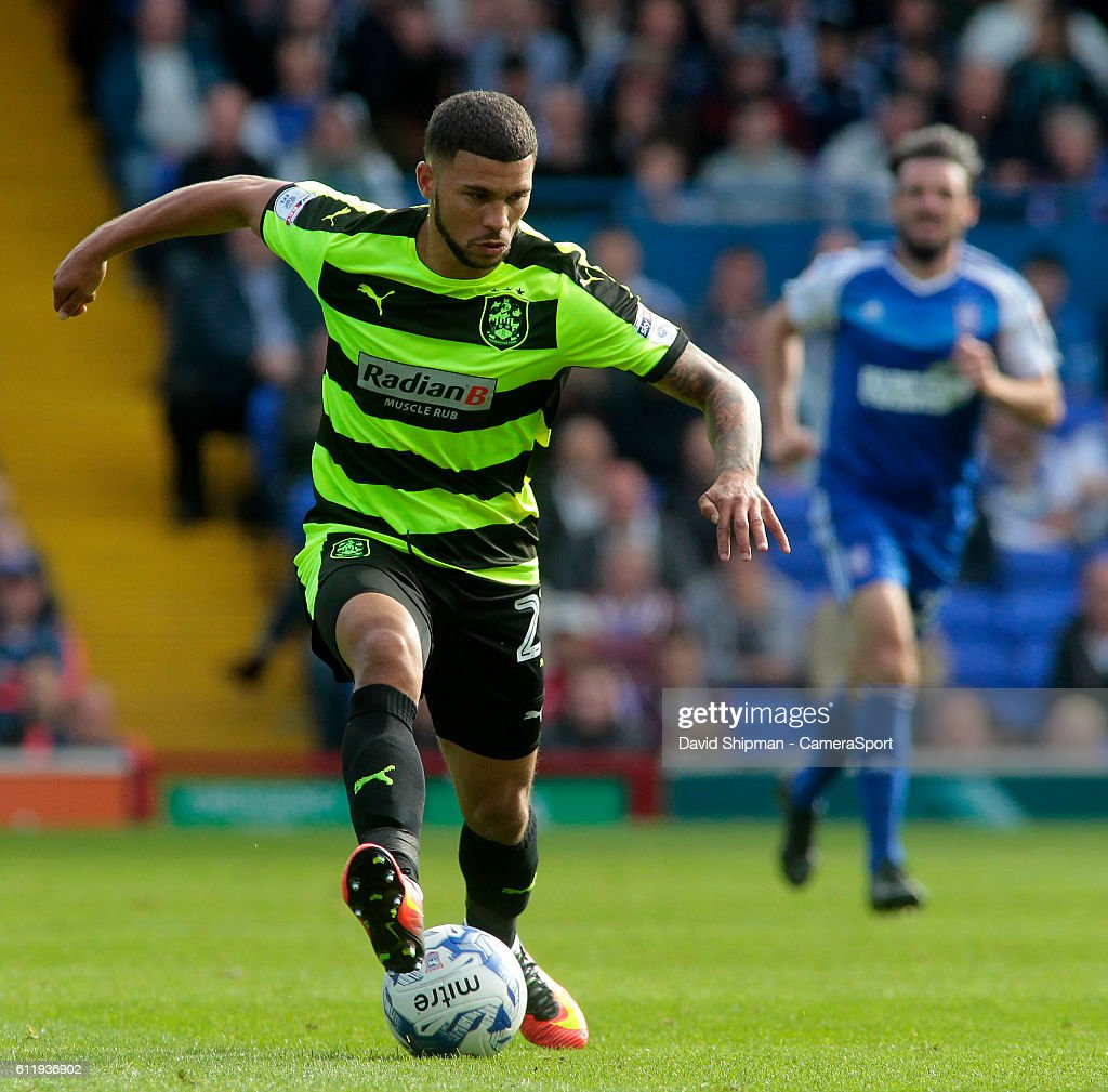 Huddersfield Town's Nahki Wells in action during todays match during the Sky Bet Championship match between Ipswich Town and Huddersfield Town at Portman Road on October 1, 2016 in Ipswich, England.