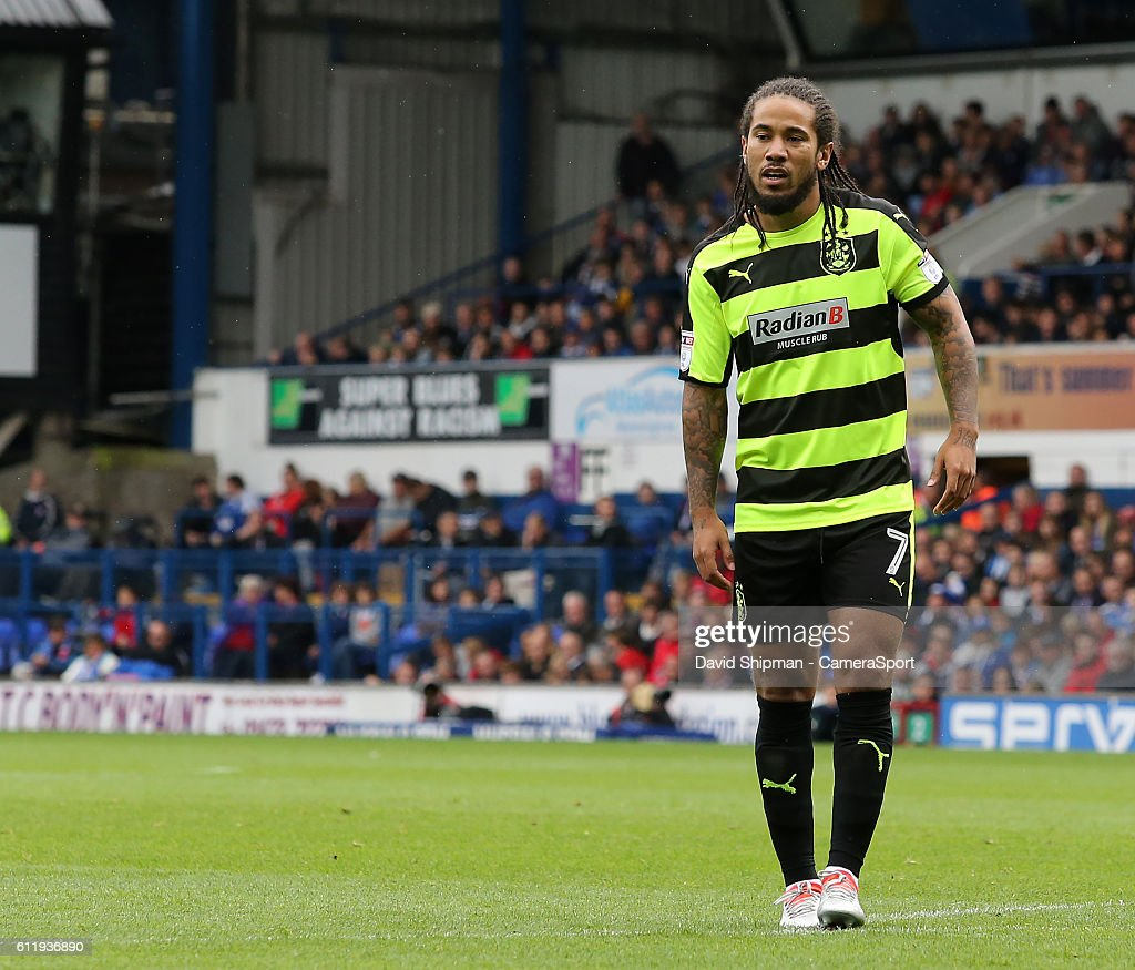 Huddersfield Town's Sean Scannell in action during todays match during the Sky Bet Championship match between Ipswich Town and Huddersfield Town at Portman Road on October 1, 2016 in Ipswich, England.
