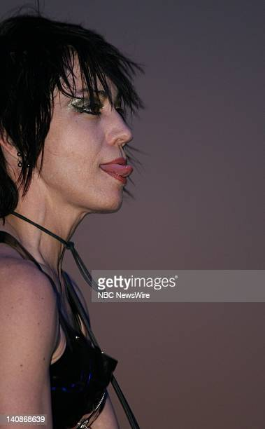 NBC NEWS Hudson River Park Concert Pictured Musical group Joan Jett and the Blackhearts perform a free concert at the Hudson River Park in New York...