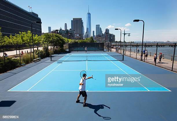 Hudson River Park Tennis courts
