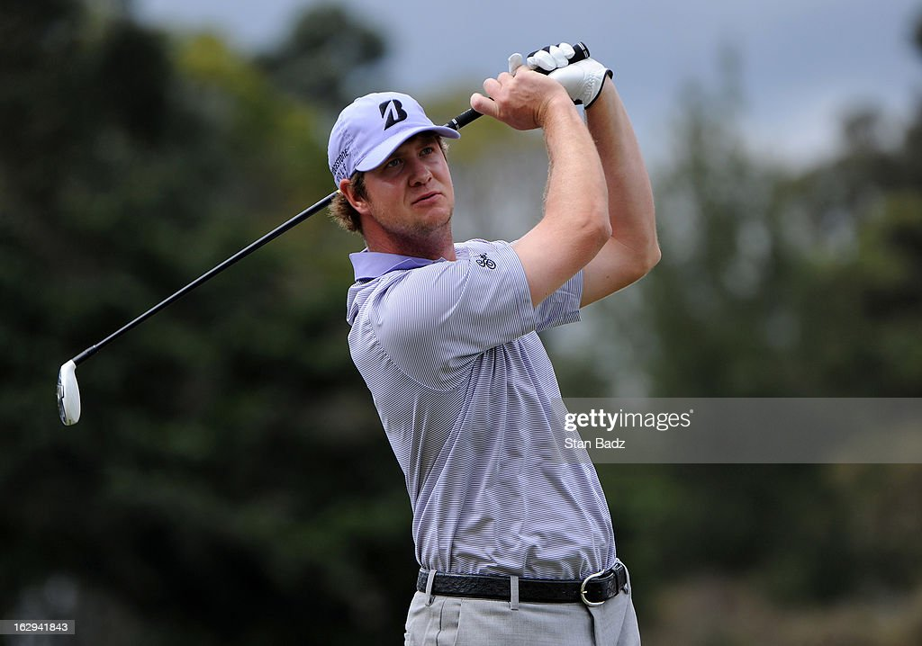Hudson Swafford hits a tee shot on the 17th hole during the second round of the Colombia Championship at Country Club de Bogota on March 1, 2013 in Bogota, Colombia.