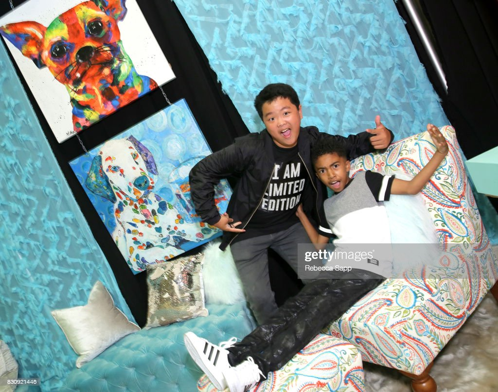 Hudson Yang and Miles Brown at Backstage Creations Celebrity Retreat at Teen Choice 2017 - Day 1 at Galen Center on August 12, 2017 in Los Angeles, California.