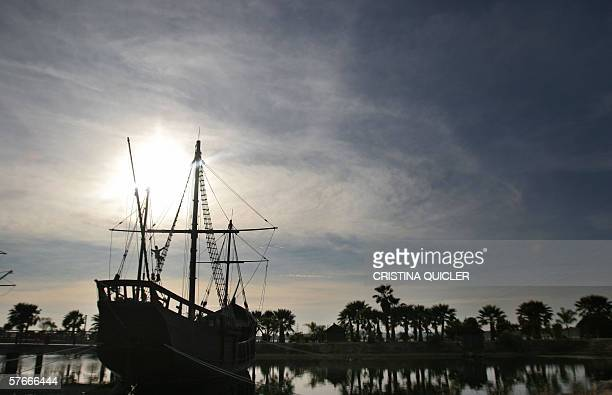 A replica of Caravel 'Pinta' is seen at Palos de la Frontera's wharf when Columbus set off for America in Huelva20 May 2006 Spain celebrates the...