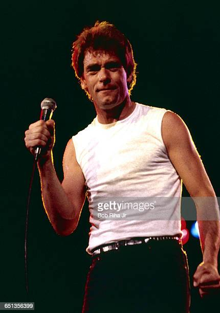 Huey Lewis and The News perform at the Irvine Meadows Amphitheatre in Irvine California April 24 1984 Huey Lewis had just released his third LP...