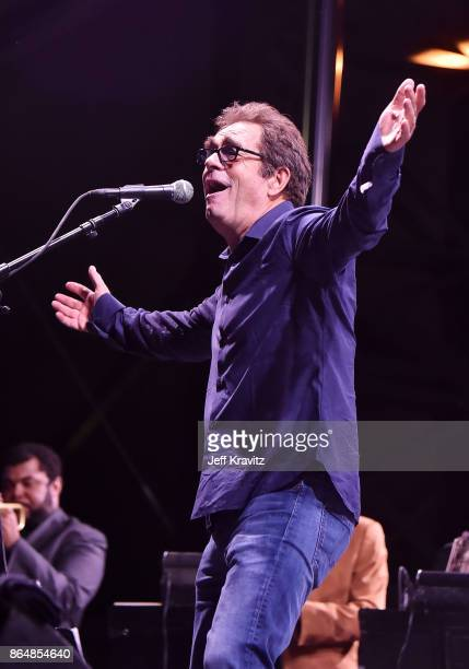 Huey Lewis of Huey Lewis and the News performs during Soul Bugs Superjam The DapKings play The Beatles at Piestewa Stage during day 2 of the 2017...