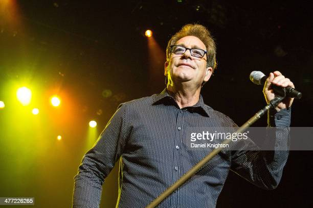 Huey Lewis performs onstage with Huey Lewis And The News at Pechanga Casino on March 7 2014 in Temecula California