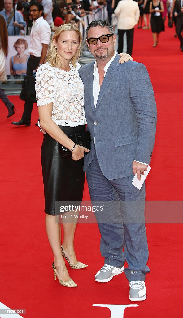 Huey Morgan (R) and Rebecca Morgan attend the World Premiere of 'Diana' at Odeon Leicester Square on September 5, 2013 in London, England.