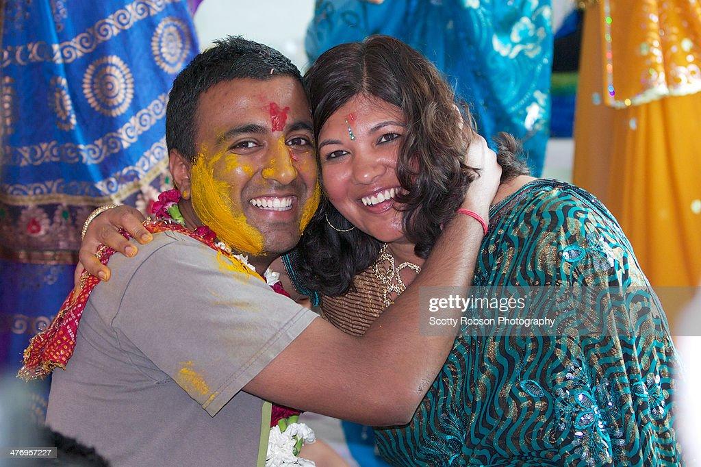 Hug during pithi ceremony