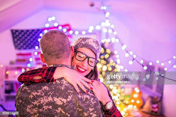 Hug for a soldier