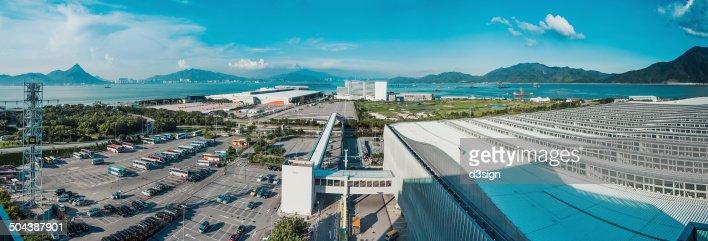 Huge and busy car park in Lantau Island