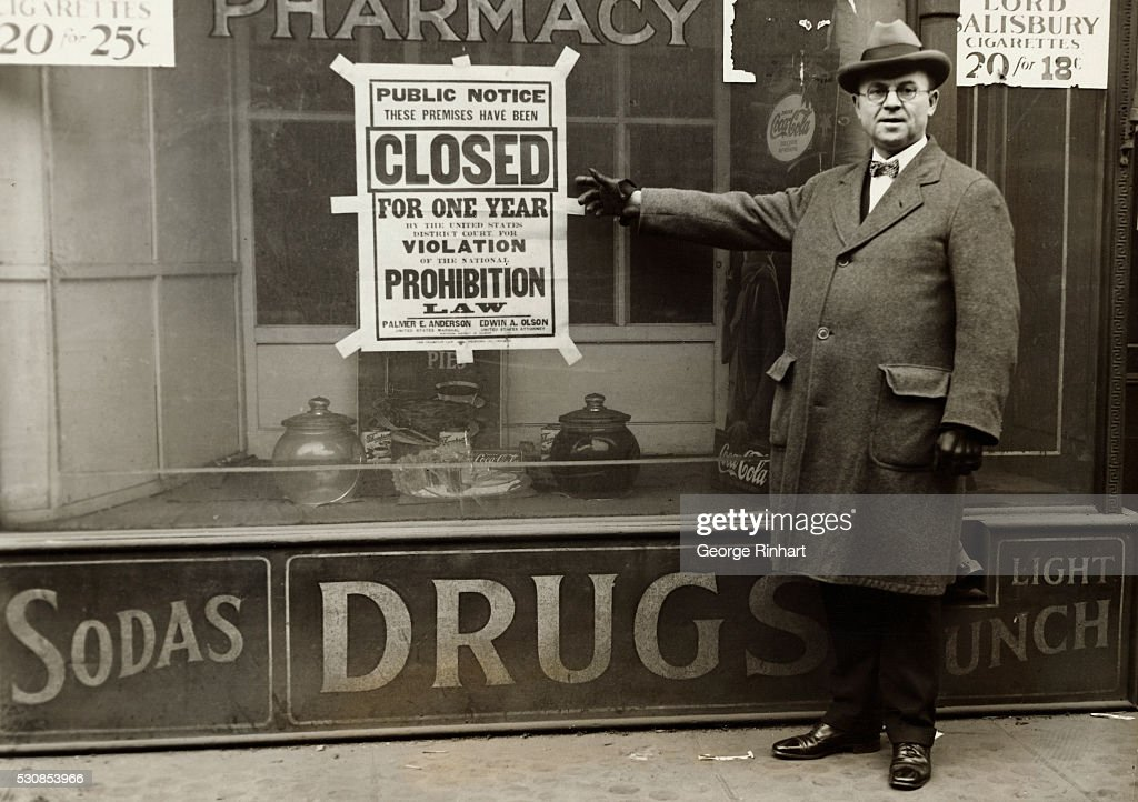 Huge black and white posters printed in bold type to replace the modest little notices placed on premises closed by the federal courts for violations...