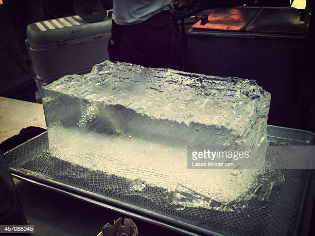 A huge block of ice