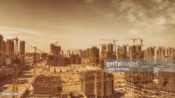 Huge construction site in Tianjin