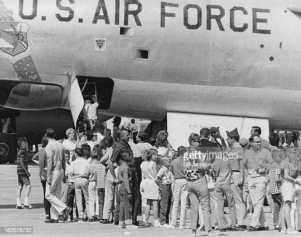 SEP 11 1965 SEP 12 1965 A huge crowd estimated at more than 30 attended annual Kiwanis Kids Day Show at Lowry Air Force Base Saturday They saw a...