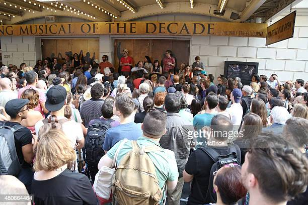 Huge crowds line up for the Lottery to win $10 frontrow seats to see the new Broadway musical Hamilton The musical about Founding Father Alexander...
