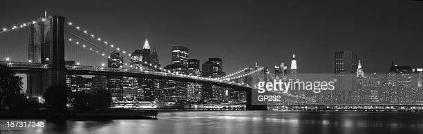 Inmenso archivo, puente de Brooklyn VISTA PANORÁMICA