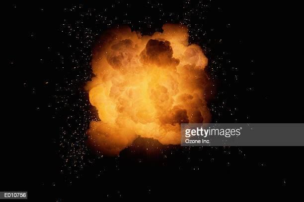 Huge fireburst explosion