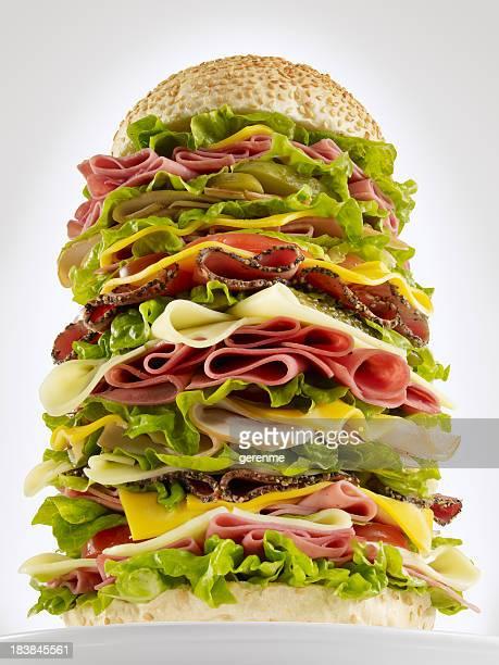 Enorme Hamburger di manzo