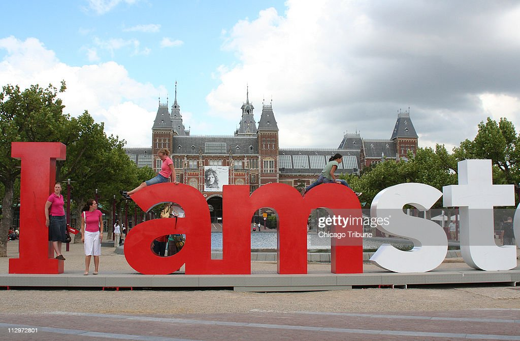 huge letters in front of the rijksmuseum let you know you are in amsterdam