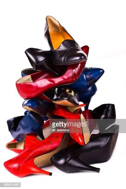 Riesigen Haufen von neuen Schuh