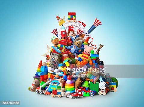 Huge pile of toys : Stock Photo