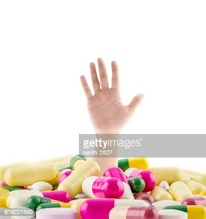 huge pile of various pills : Stock-Foto