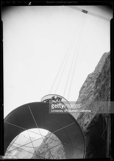 Huge pipe being lowered into place at the Hoover Dam dw19344120867~08