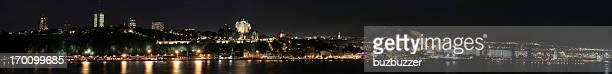 Huge Quebec city panorama at night