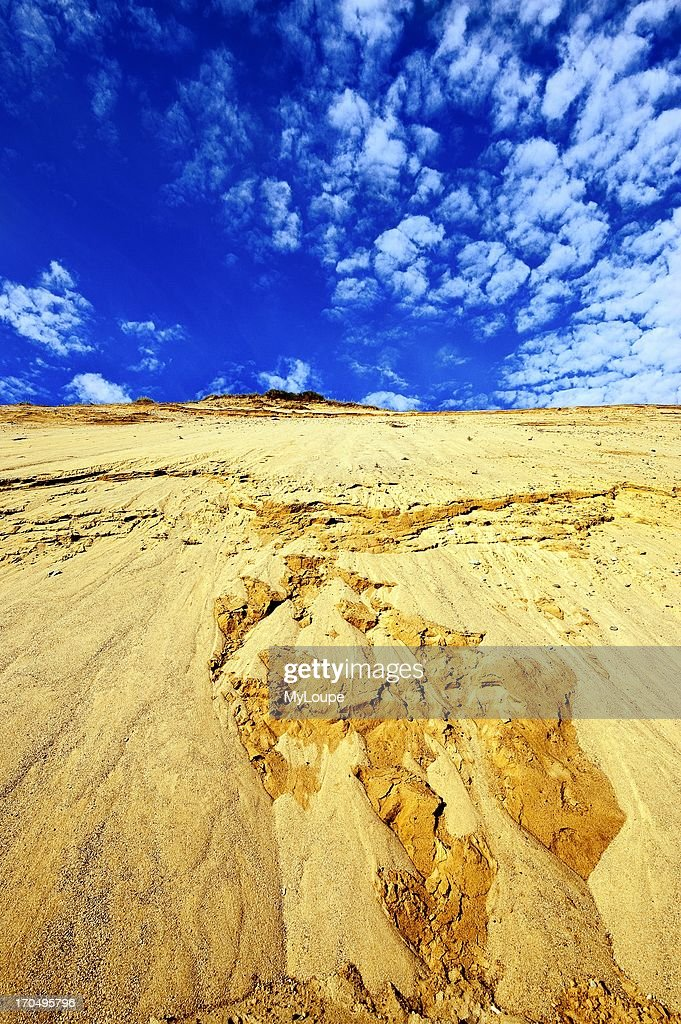 Huge sand dune cliffs at Long Nook Beach Cape Cod National Seashore Truro Cape Cod MA Massachusetts United States