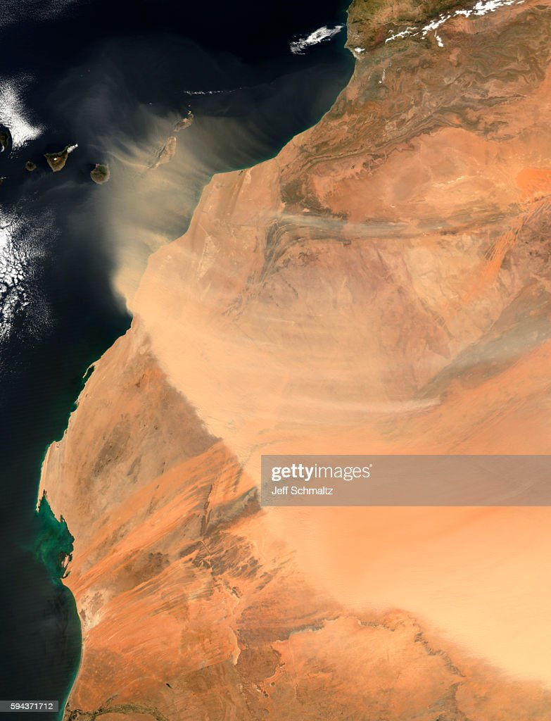 Huge Sandstorm in Western Sahara