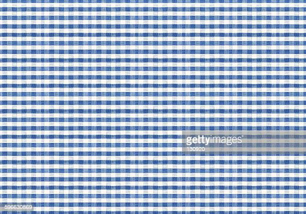 Huge size, blue and white checked pattern