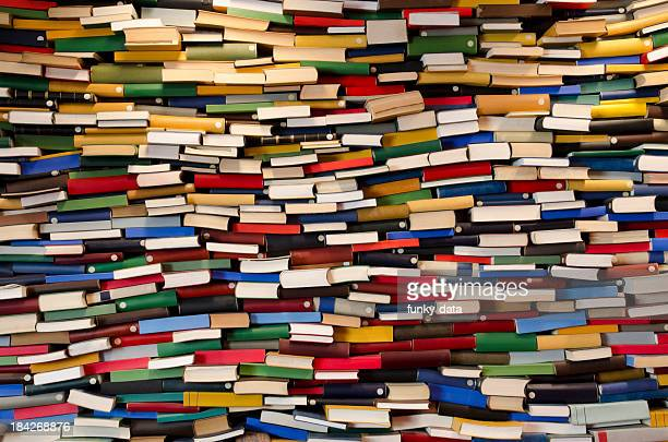 Huge stack of books - Book wall
