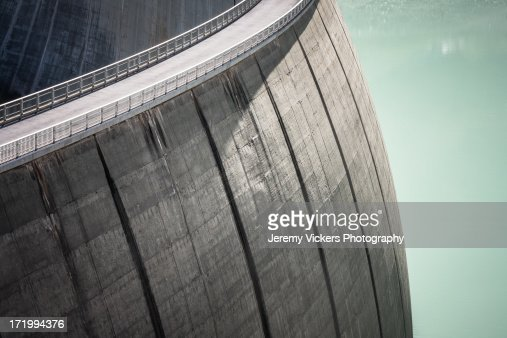 Huge Swiss Dam With Road