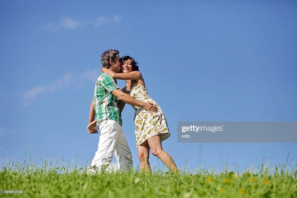 Hugging couple : Stock Photo