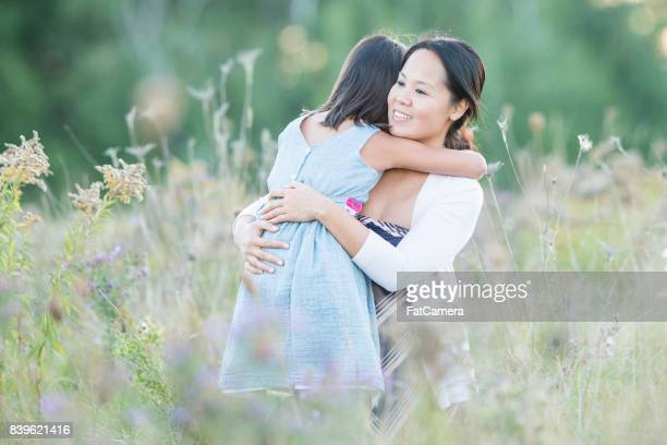 Hugging In The Field