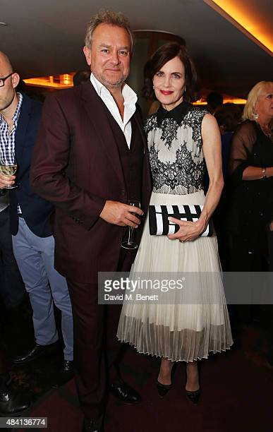 Hugh Bonneville and Elizabeth McGovern attend the Downton Abbey wrap party at The Ivy on August 15 2015 in London England