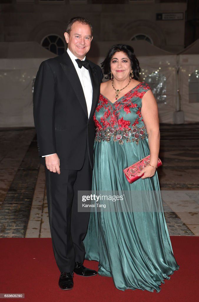 Hugh Bonneville and Gurinder Chadha attend a reception and dinner for supporters of The British Asian Trust on February 2, 2017 in London, England.