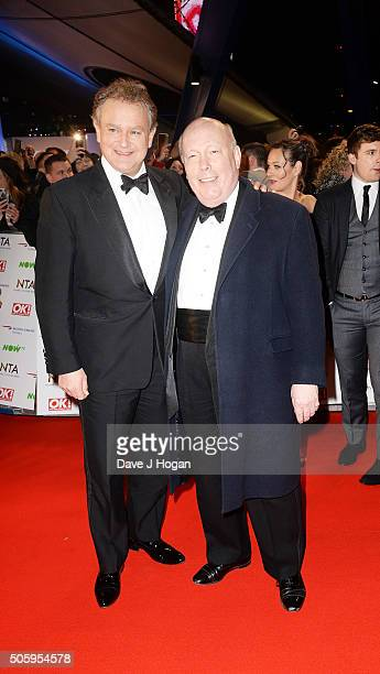Hugh Bonneville and Julian Fellows attends the 21st National Television Awards at The O2 Arena on January 20 2016 in London England