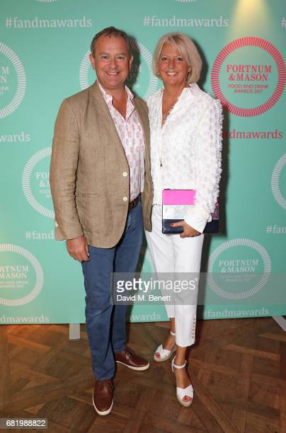 Hugh Bonneville and Lulu Williams at the fifth annual Fortnum Mason Food and Drink Awards on May 11 2017 in London England