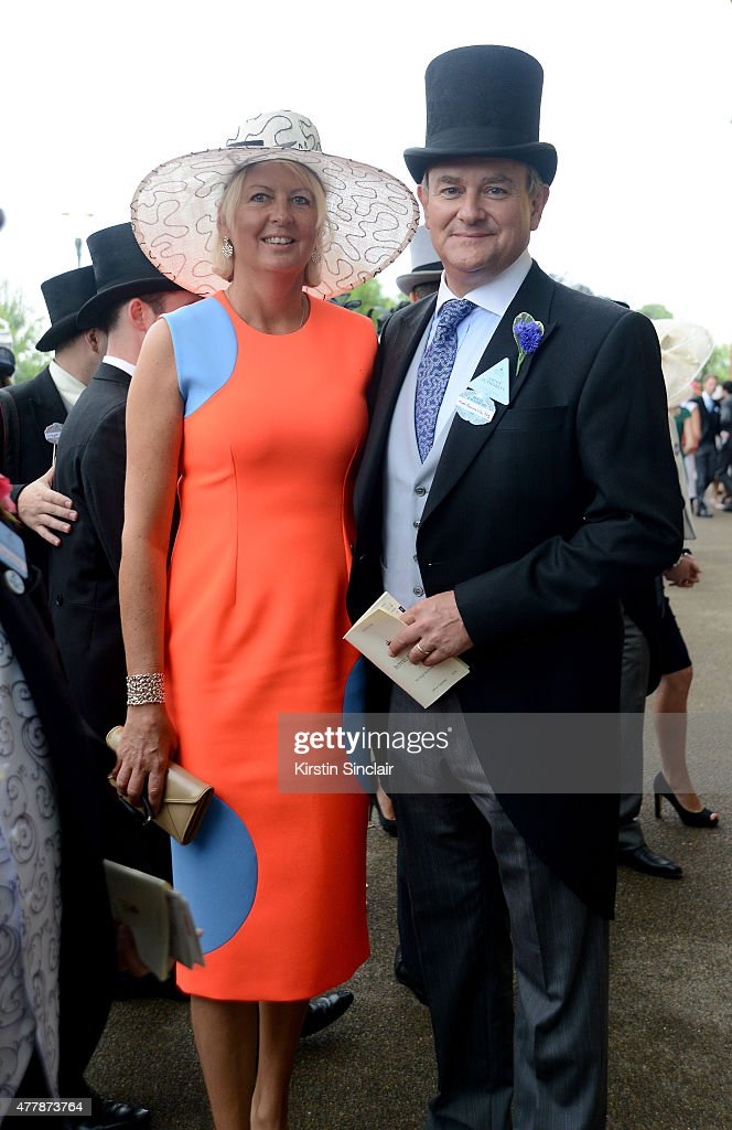 Hugh Bonneville and Lulu Williams attend Day 5 of Royal Ascot 2015 at Ascot racecourse on June 20, 2015 in Ascot, England.