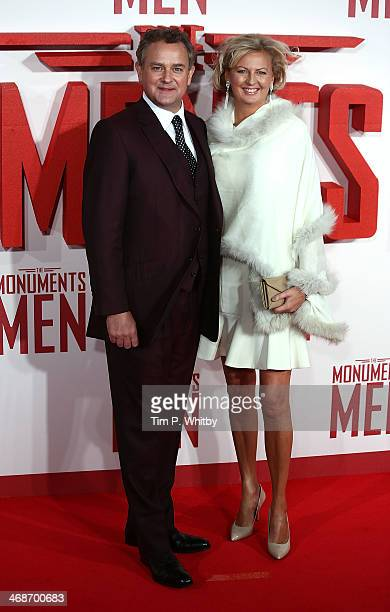 Hugh Bonneville and Lulu Williams attend the UK Premiere of 'The Monuments Men' at Odeon Leicester Square on February 11 2014 in London England