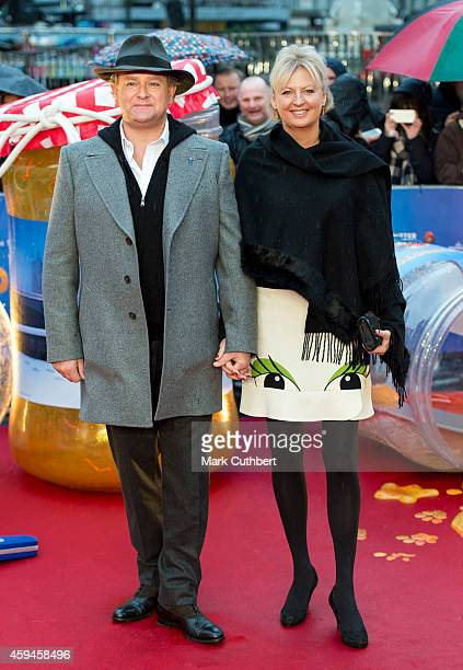 Hugh Bonneville and Lulu Williams attend the World Premiere of 'Paddington' at Odeon Leicester Square on November 23 2014 in London England