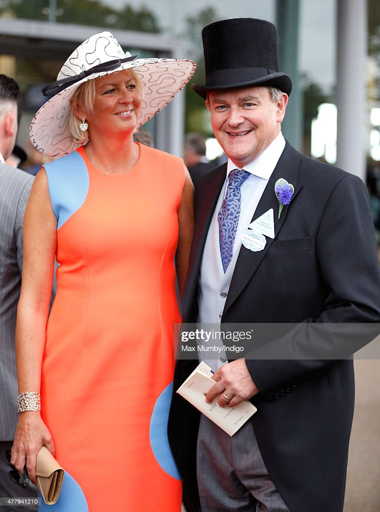 Hugh Bonneville (accompanied by his wife Lulu Williams) attends day 5 of Royal Ascot at Ascot Racecourse on June 20, 2015 in Ascot, England.