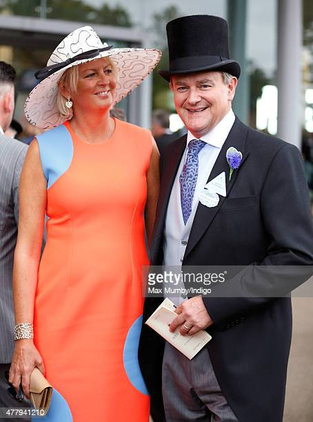Hugh Bonneville attends day 5 of Royal Ascot at Ascot Racecourse on June 20 2015 in Ascot England